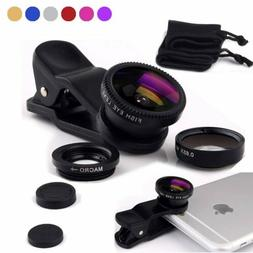 Wide Angle Micro Fish Eye Clip Cell Phone Camera Lens Univer