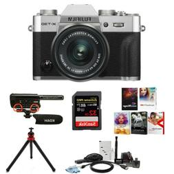 Fujifilm X-T30 Mirrorless Camera  with 15-45mm Lens and Mic